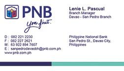BUSINESS CARD - PNB Lenie Pascual